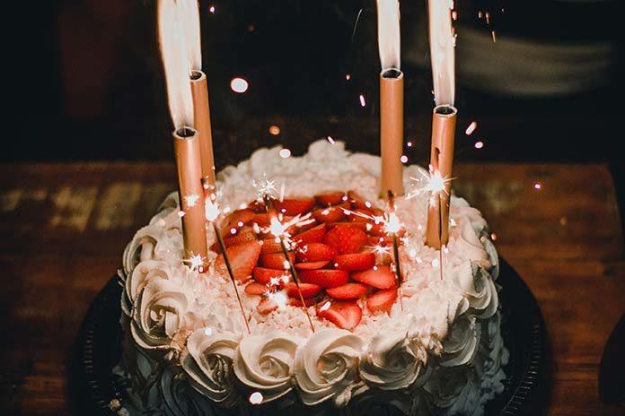 Tort lodowy na urodziny